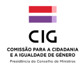 Logotipo Informar juridicamente e apoiar psicossocialmente a discriminação e violência de género  - ePortugal.gov.pt