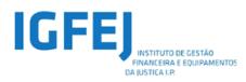 Logotipo Instituto de Gestão Financeira e Equipamentos da Justiça